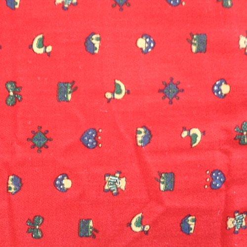 Coupon De Tissu Coton Enfant Rouge Imprime Dessin Canards Cœurs