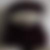 Béret, bonnet à pompons 56/60 (m/l/xl)+ snood, col ,écharpe tube+ mitaines m/l/xl (7-7,5-8) bordeaux, en dentelle, femme