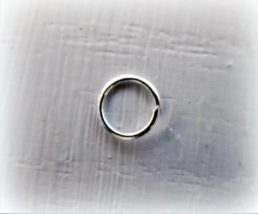 Anneaux de jonction ouverts 3 ou 4 mm en Argent Sterling 925 - Lot de 50
