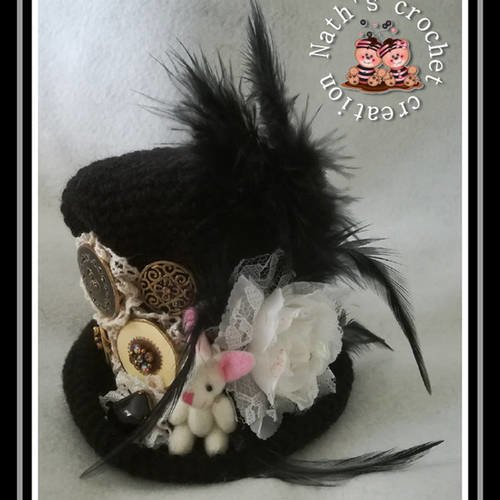 Mini chapeau haut de forme steampunk