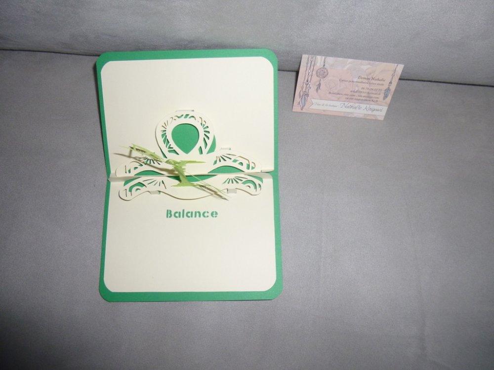 """carte faite main théme """"les signes du zodiaque"""""""