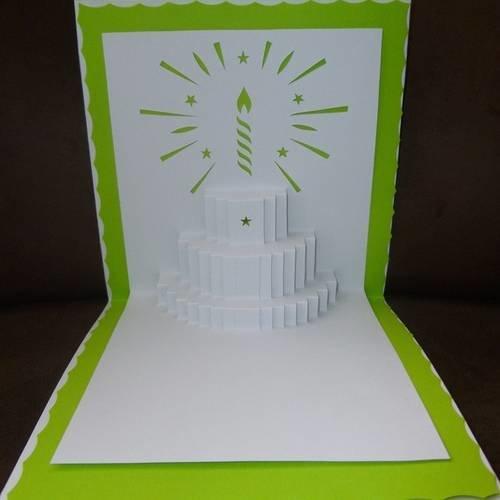 """Carte faite main théme """"anniversaire"""""""