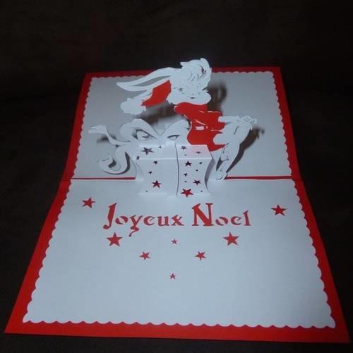 "Carte faite main théme ""joyeux noël"""