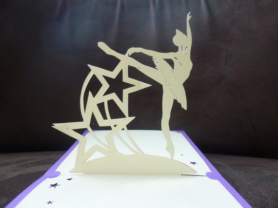 "carte faite main théme ""danseuse étoile"""
