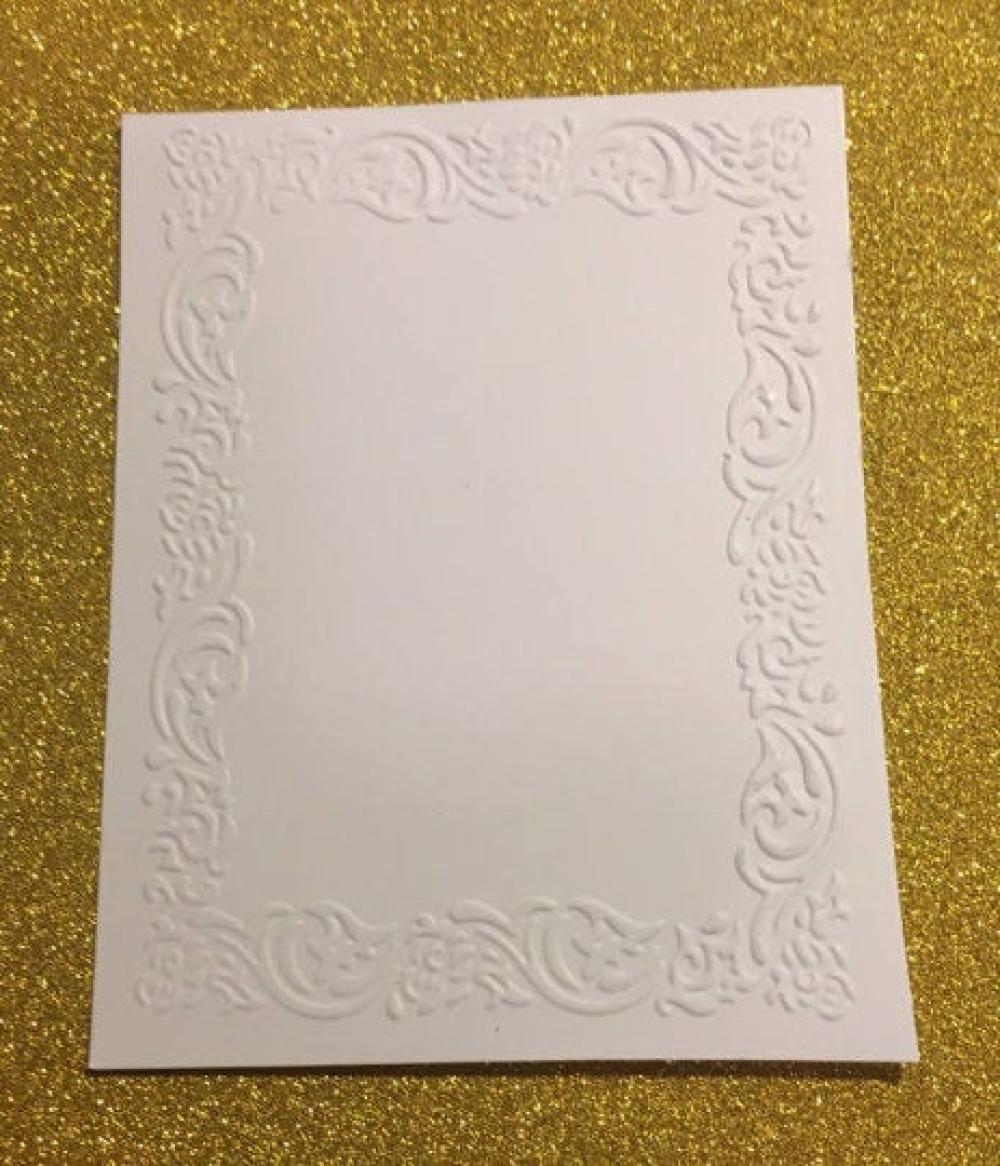 Papier embossé gaufré cadre, vintage, rétro, photographie, pour scrapbooking, papier, embellissement, décoration, création, die cut.
