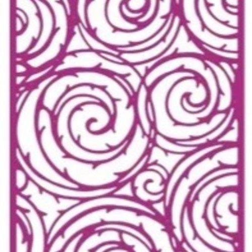 Découpes scrapbooking tourbillon, fleurs, nature, jardin, anniversaire, fête, cadeau, naissance, mariage, embellissement, die cut,