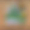 Coffret naissance personnalisé - couverture et doudou lion multicolore