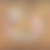 Attache tétine- sucette personnalisée prénom - lama rose