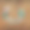Attache tétine- sucette personnalisée prénom - lama vert clair
