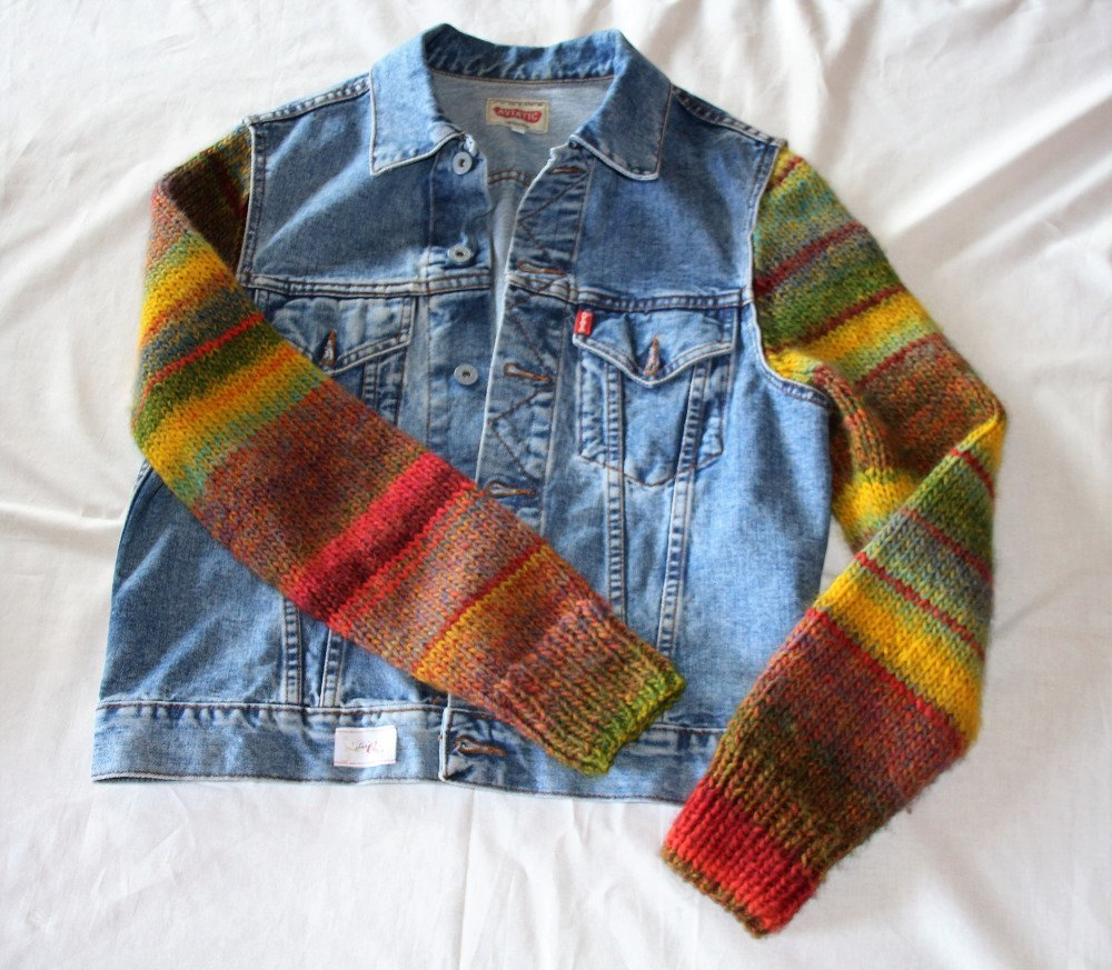 Veste en jean customisé