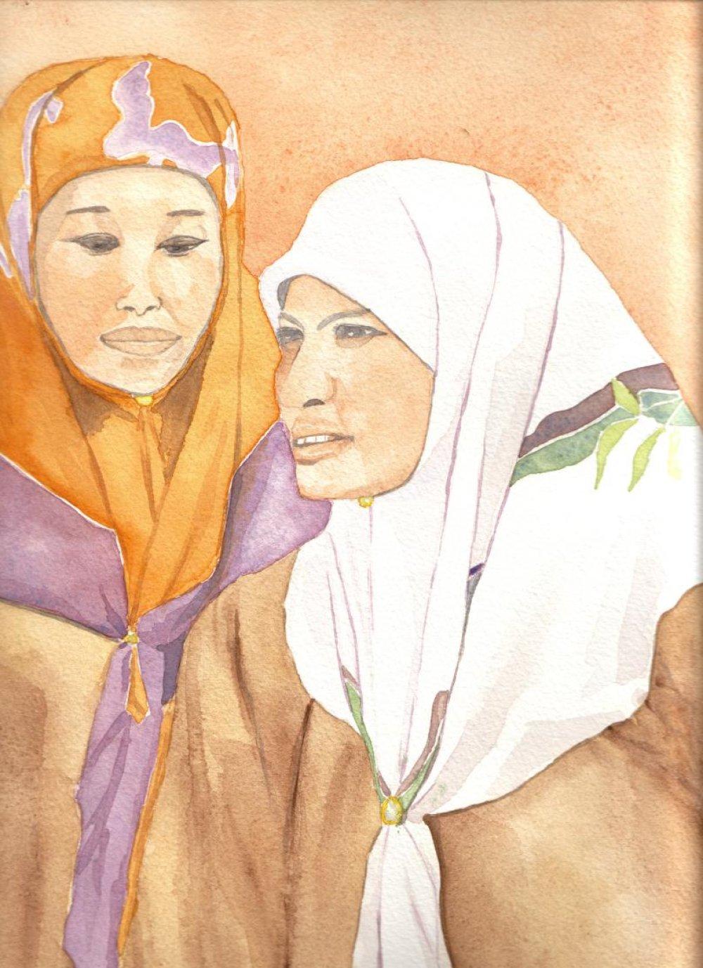 Jeunes femmes de Langkawi, Malaisie.