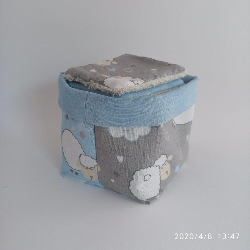panier lingettes débarbouillage lavable