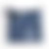 Sac pochette à cordon sac en denim bleu pochette en jean à cordon noir au crochet