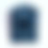 Pochette telephone portable etui iphone maxi denim bleu