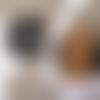 Lot de 4 lingettes lavables nénuphar motif pois noir