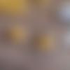Bo créole asymétrique nénuphar 3d – orange mini feuilles