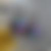 Bo double créole nénuphar 3d – fleurs violettes