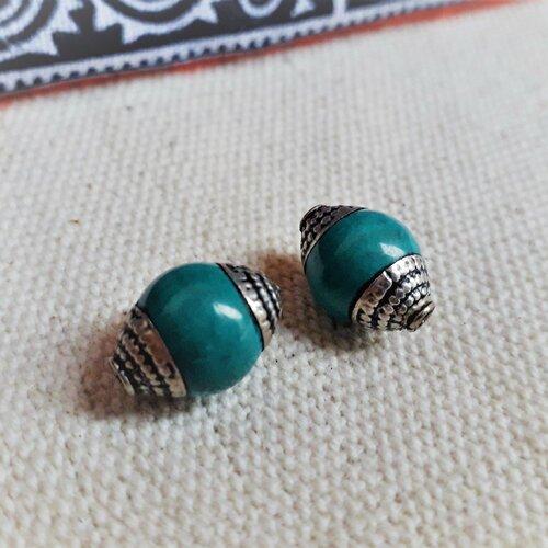 Perles turquoises ethniques népal tibet-perles traditionnelles-perles du monde-perles du monde