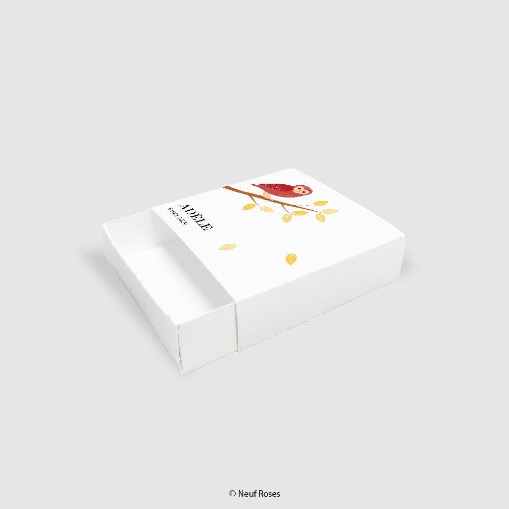 Boîte à dragées baptême - chouette