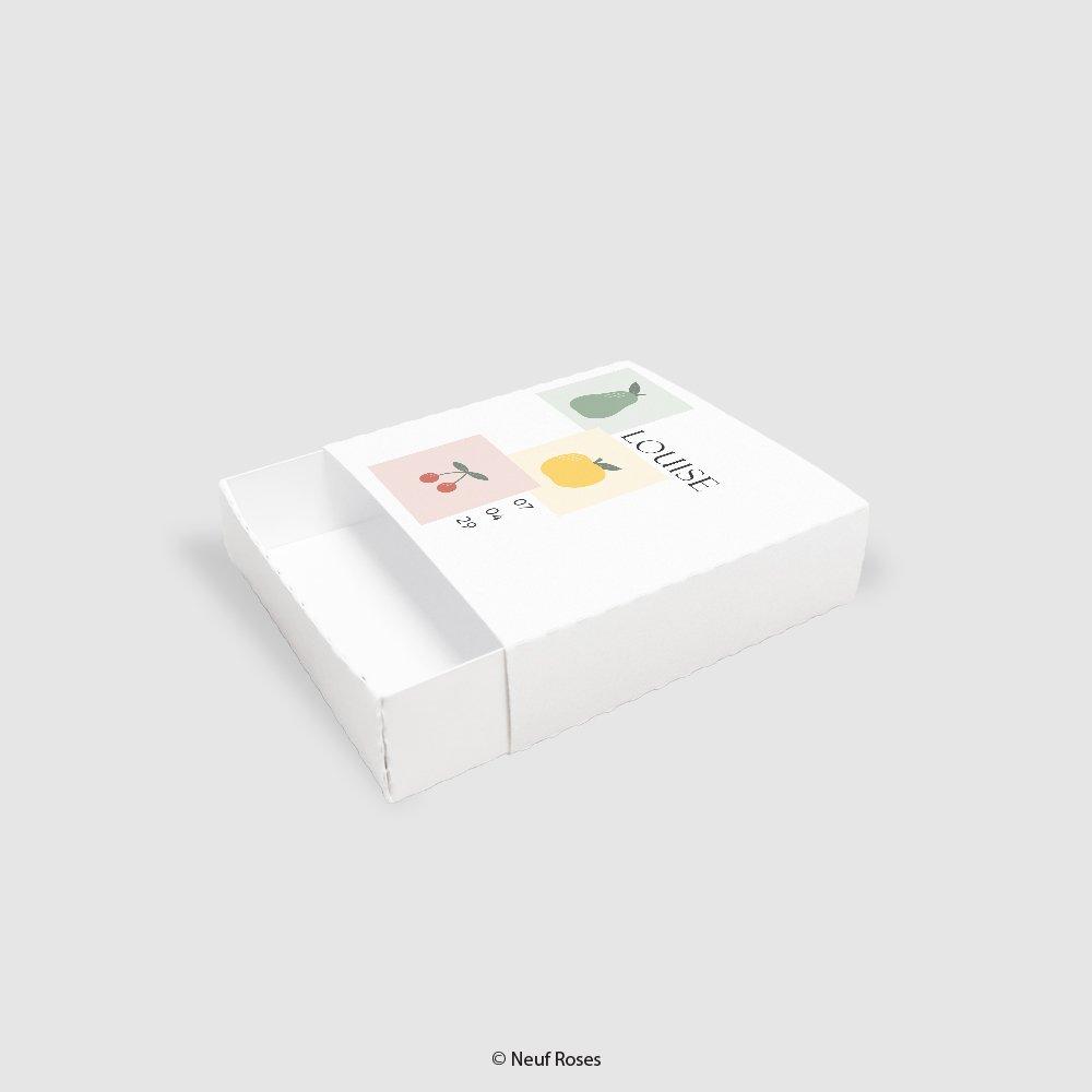 Boîte à dragées baptême - fruits