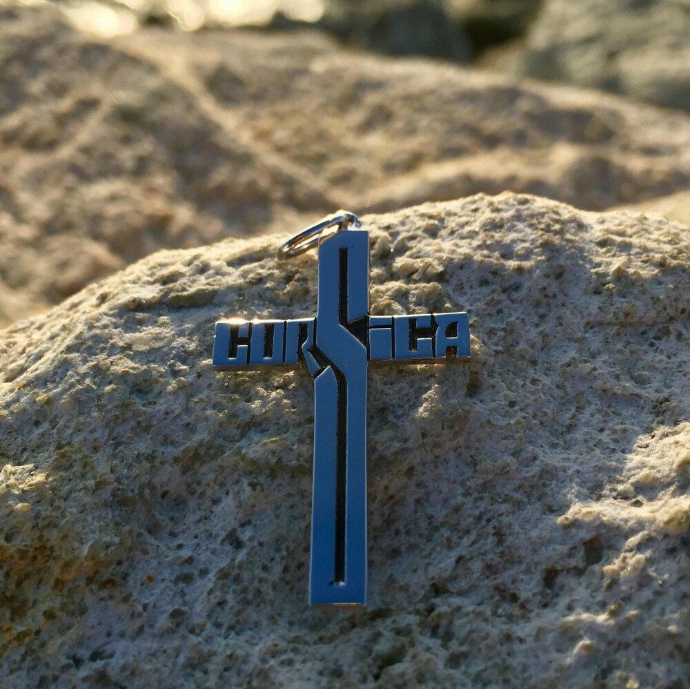 Pendentif Croix  CORSICA  Argent 925