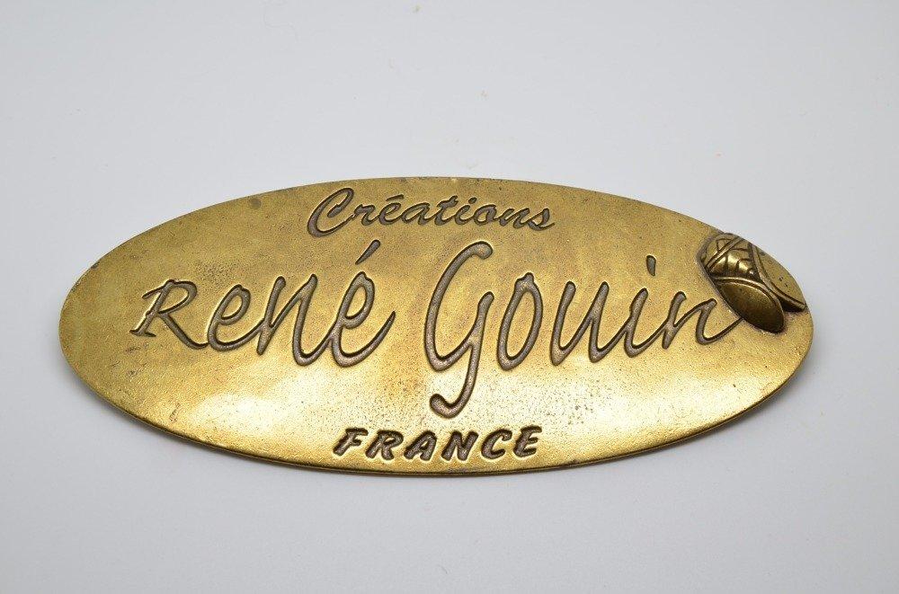 bague tube collection STYL René Gouin tête de taureau doré