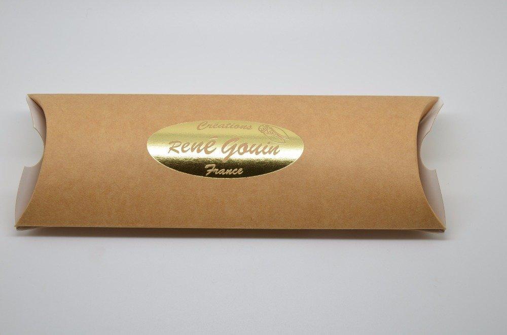 """boite cadeau cartonnée logo """"René Gouin"""" pour marque-page René Gouin"""