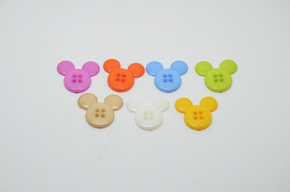 7 Boutons Tete De Mickey Pour Enfants Multicolore Un Grand Marche