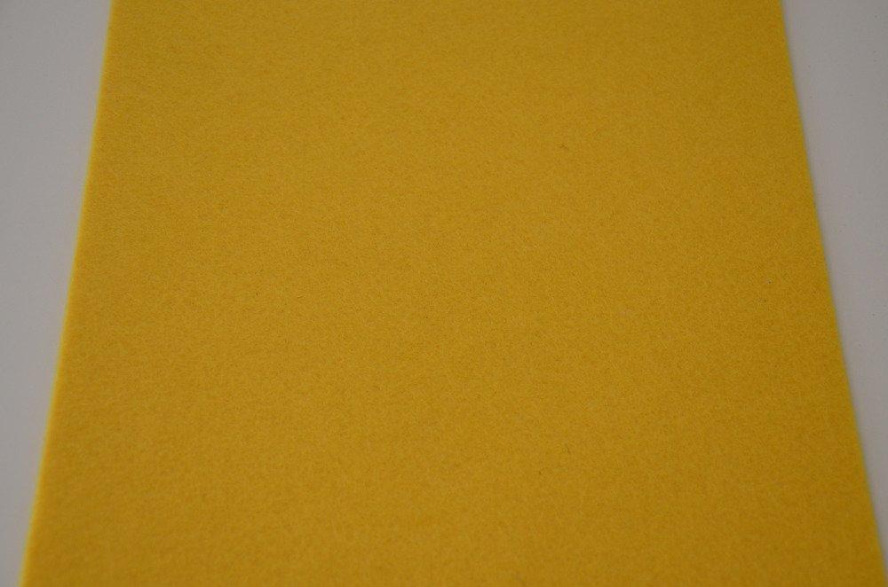 1 coupon de feutrine de viscose rigide - jaune soleil