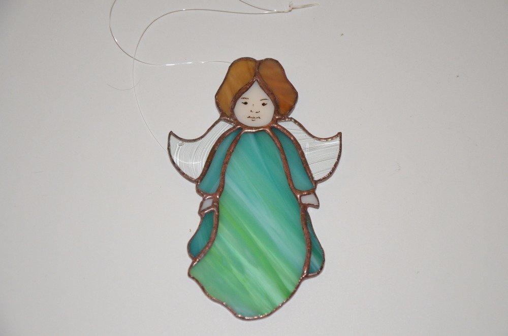vitrail fait main - angelot