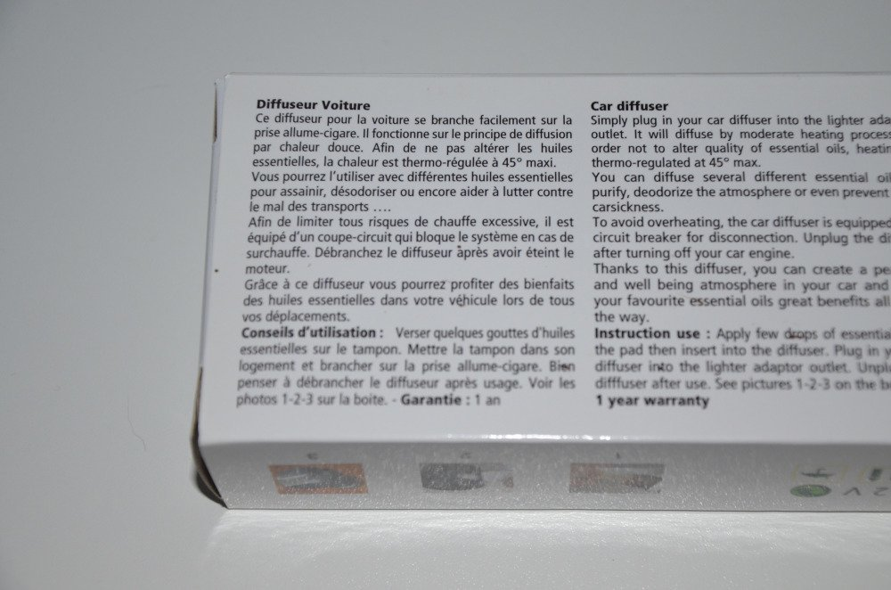 diffuseur d'huiles essentielles pour voiture