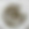 200 petites perles intercalaires rondes - bronze - 4mm