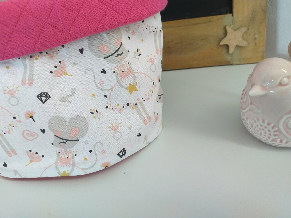 Snood enfant princesse souris rose fuchsia