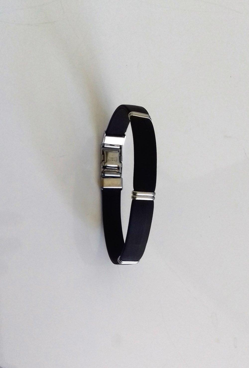 Bracelet silicone acier
