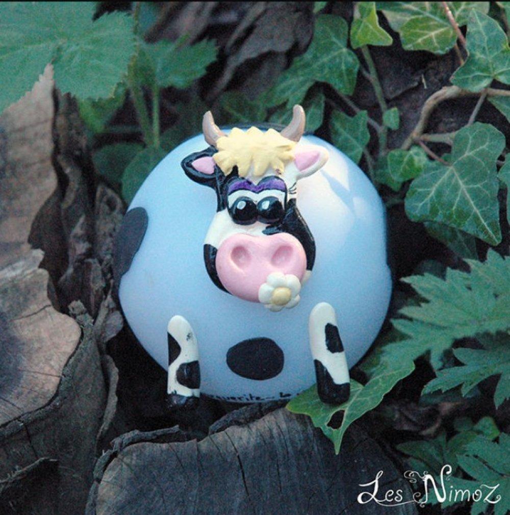"""Veilleuse """"MARGUERITE""""  - la vache - Les NIMOZ - Collection Ferme"""