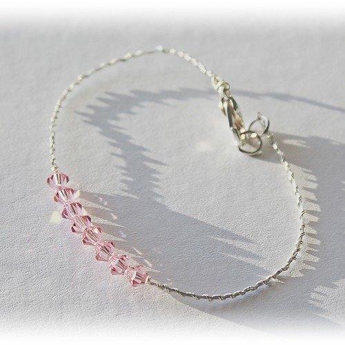Bracelet perles cristal swarovski