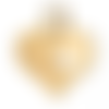 Breloque coeur en acier inoxydable- doré