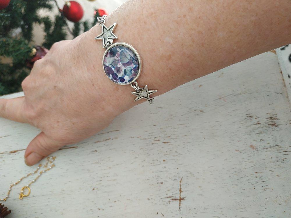 Bracelet argenté étoiles