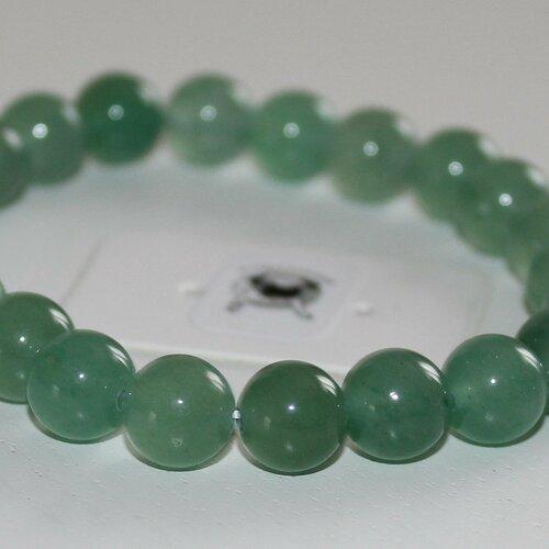 Bracelet aventurine verte - pierres naturelles - 8mm