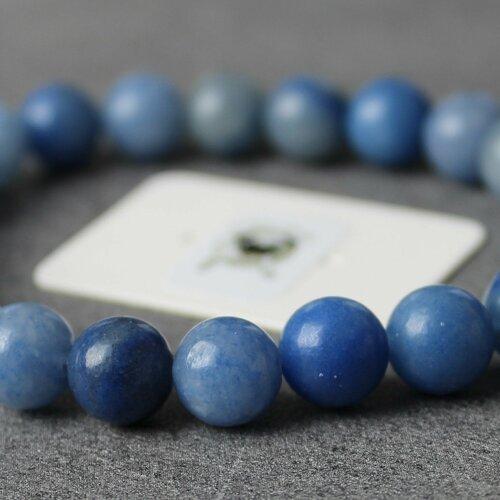 Bracelet aventurine bleue - pierres naturelles - 8mm