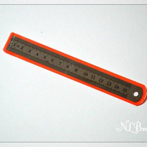 Règle ou Réglet flexible en métal graduée en pouces et cm 20 cm