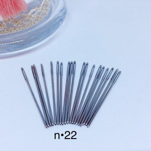 24 ou 26  pour tous vos ouvrage textiles Lot de 25 Aiguille à broder numéro 22