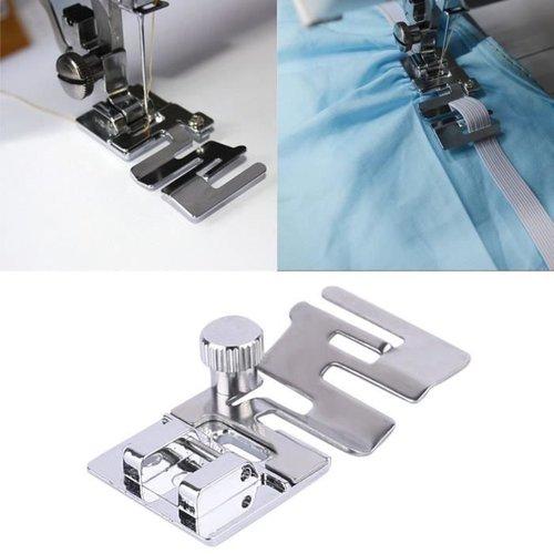 Pied pour machine, pied de biche, pied presseur pour pose d' élastique , ruban