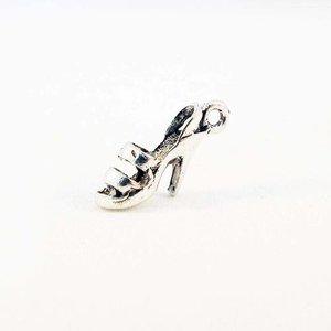Bcp91s pendentif breloque escarpins talons hauts stiletto sandale argent vieilli chaussure