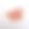 P8207 - 20 anneaux de jonction fermés en laiton de couleur rosé plaqué or rose de 8mm x 1mm