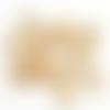 Ala1e - 25 solides gros larges anneaux de jonction ouvert 6x1mm doré
