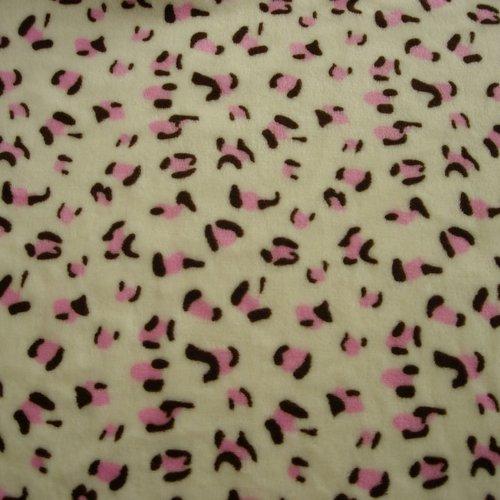 Tissu polaire imprimé 80 cm x 50 cm tout doux