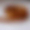 Ruban satin double face ambre large de 4,0m x 6mm