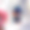 Perle petit garçon à la casquette personnage kawaïï en pâte polymère ou fimo
