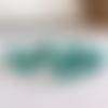 10 perles en verre ovales à facettes 8x8mm